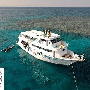 our beautiful daily boat :)  #boat #newsonbijou #Hurghada #Egypt #diving #scuba #tauchen #duiken #plongee #dive #potapljanje #ronjenje #redsea #scubadivinghurghada #divehurghada #divingegypt #divinghurghada
