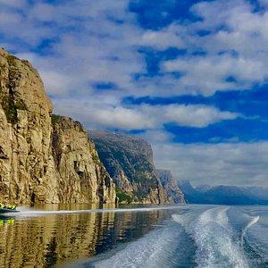 Cruising through the fjord.