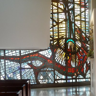 Stained glass window by Adolfo Winternitz