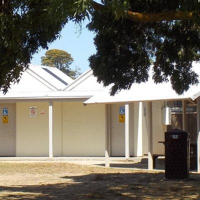 public toilets, shelter, BBQ