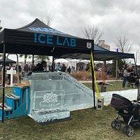 Harbor Point Ice Festival: Ice slide