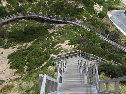 lots of steps to climb - take your time!