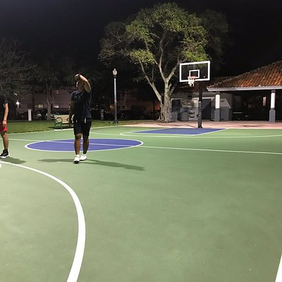 Nice place to playing basketball, jogging and have kids garden.  The are very clean and arranged very neatly, so it looks beautiful.