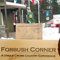 Forbush Corner check in, store and warming house.