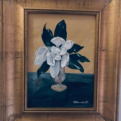 THE WHITE MAGNOLIA PAINTED BY GHUMBERT DI CATTOLICA
