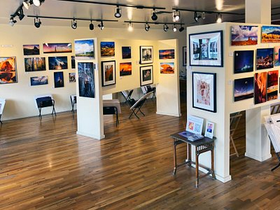 Some of our members' images on display in the Gallery.