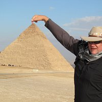 Touching the top of Khafre's pyramid 2020