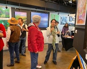 It was a social gathering Sat. Feb. 8 for Fresh Art.
