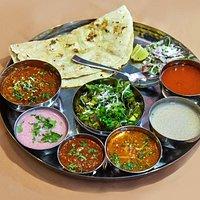Kolhapuri Non veg thali Mutton Kharda Thali...