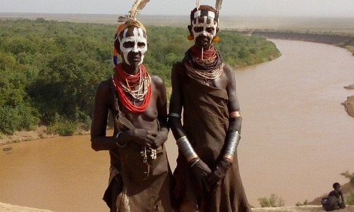 The girls from kara tribe