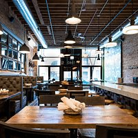 rustic chic design provides a perfect backdrop for your meal