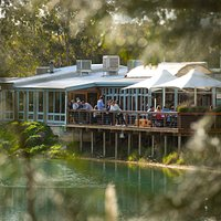 Enjoy lake views from Maggie Beer's Farm Shop & Cafe