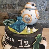 Gâteau évènementiel anniversaire thème Stars Wars / BB8