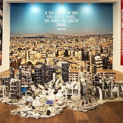 The award-winning Living Aleppo exhibit