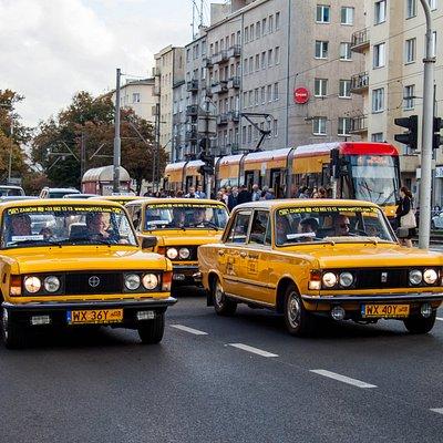 The WPT1313 fleet - yellow retro Fiats 125p