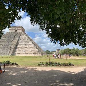 We took this picture of the main temple while we were touring Chichen Itza.