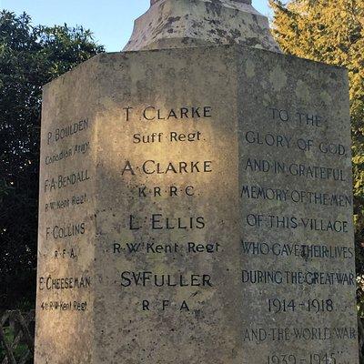 7.  Matfield War Memorial, Matfield, Kent
