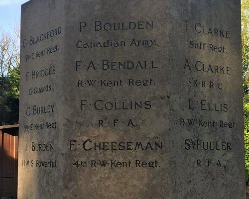 8.  Matfield War Memorial, Matfield, Kent
