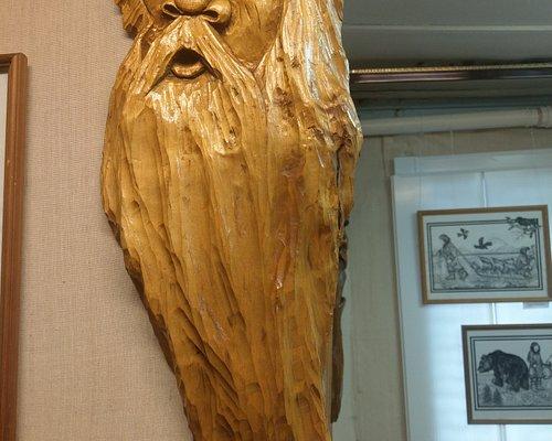 В музее представлены работы мастеров народного творчества из с. Мильково.