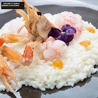 risotto mantecato con scampi