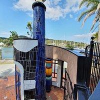 Hundertwasser-Säule in Whangarei - kein Museum bisher