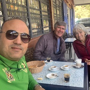 We stopped in tichka one of the hi atlas mountain the attitude about 2260 meters for coffee time and tested the argane oil