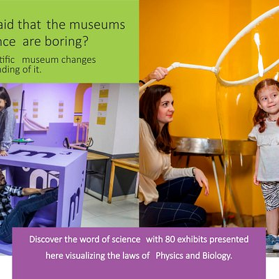 Who said that the museums and science are boring? Our scientific museum changes understanding of it.   We work every day 10.00 am – 8.00 pm 17 P. Ingorokva st, Tbilisi, Georgia  experimentorium.ge