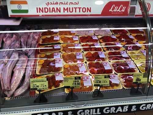Мясной отдел супермаркета Lulu
