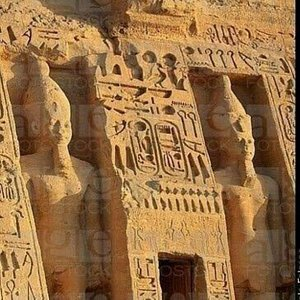 Temple of Abu Simbel, which is 280 km away from Aswan and back in Aswan. The hotel is 55 US dollars per person, more than one person.
