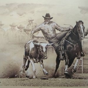 rodeo pencil on carboard
