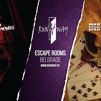 Runaway escape rooms Belgrade!  Horror movies room, and High Noon Saloon room.  www.runaway.rs
