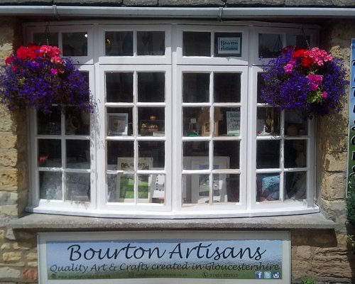 Peek in the window at the lovely, locally made art and crafts in Bourton Artisans
