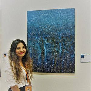 Soraya Sikander spectacular winter paintings were a visual delight for the eyes! an absolute treat for all art lovers!