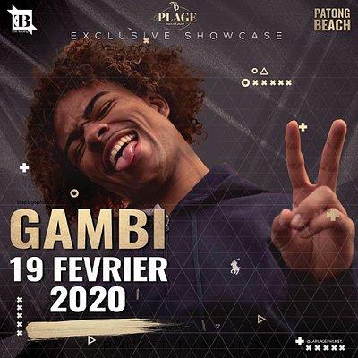 Gambi pour son 2ieme showcase à La Plage.