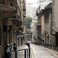 Rua Central in Macau