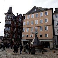 Marktbrunnen, Marburg, Alemania.