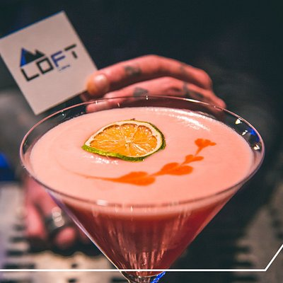 Loft Cafe: • Cocktail Bar 🍸🍹 • Breakfast ☕️🥐 • Snacks 🍩🍵 • Happy Hour 🍟🍕 • Break Time 🥪🌮 • Birthdays 🎉🎊