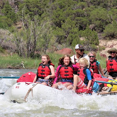 White Water River Rafting on the Green River Gates of Lodore Dinosaur National Monument.