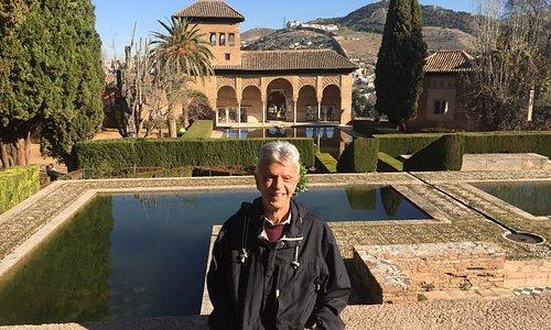 """The quaint """"Palacio del Partal"""" at Granada's """"La Alhambra""""."""