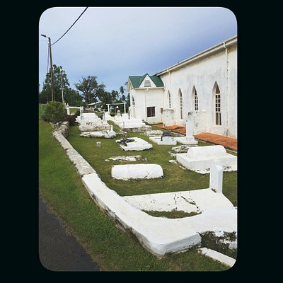 Old cemetery stones and monuments