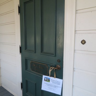 Enter Through This Door to Get Tour of Home During Stated Open Hours, The Rengstorff House, Mountain View, Ca
