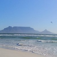 View of Table Mountain from the beach