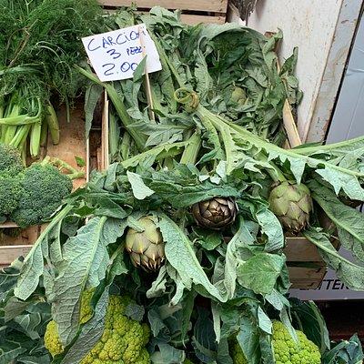Carciofi. In Sicily they steam them