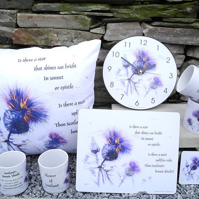 Epistles & Thistles - our latest range of homeware, designed by and available only from Mither Tongue.