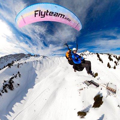 Above the ski slopes