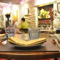 Vistas des de la mesa del menú degustación