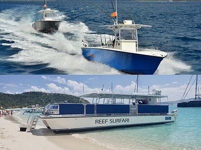 37ft Fishing Boats Hitman & Backlash also 47ft Snorkeling boat Reef Surfari.