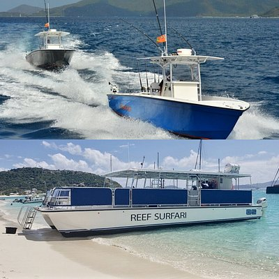 37ft Fishing Boats Hitman & Backlash also 47ft Snorkeling boat Reef Surfari.