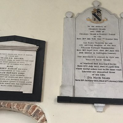 Memorial wall plaques, the Lynch gate, the pulpit and stain glass windows