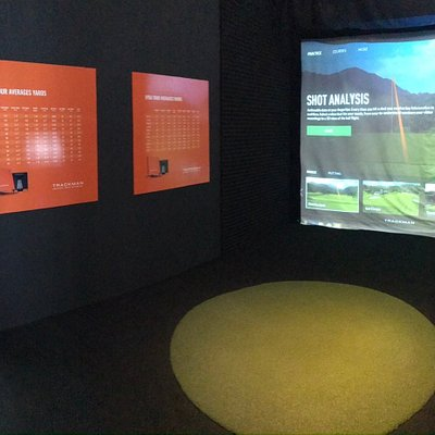 Indoor trackman simulator